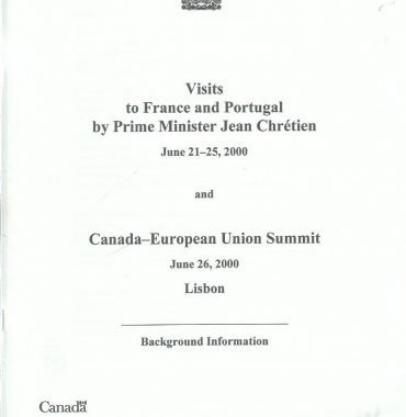 Visits to France and Portugal by Prime Minister Jean Chrétien