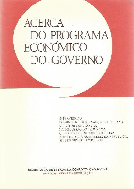 Acerca do Programa Económico do Governo