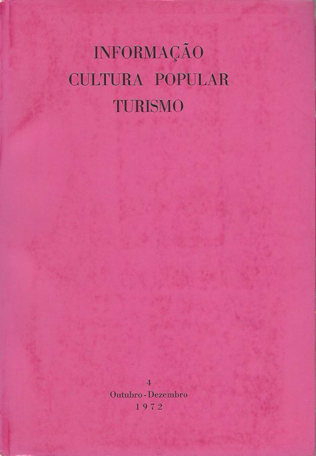 Informação Cultural Popular e Turismo: No. 4 (Outubro-Dezembro, 1972)