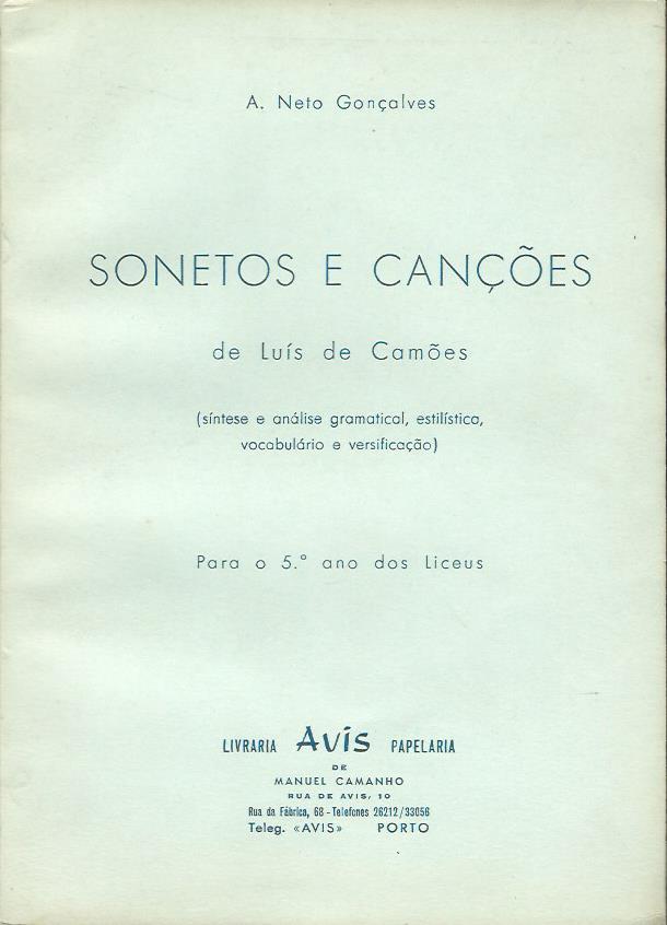 Sonetos e Canções de Luis de Camões