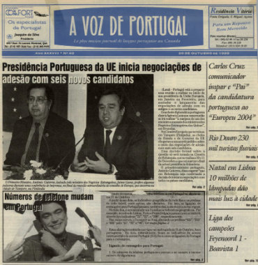 A VOZ DE PORTUGAL: 1999/10/20 Issue 40