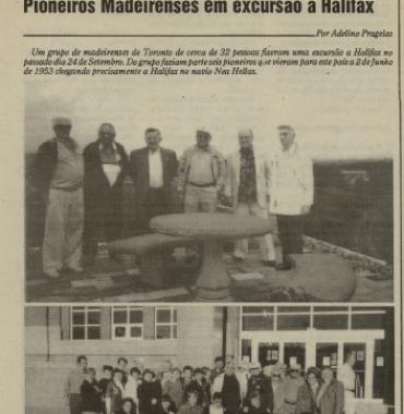A VOZ DE PORTUGAL: Pioneiros Madeirenses em excursão a Halifax 10/20