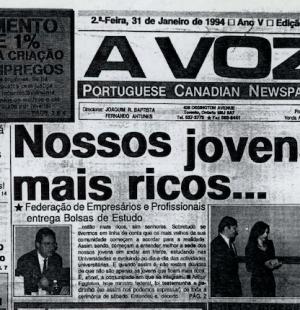 A VOZ: Nossos jovens mais ricos 1994/01/31