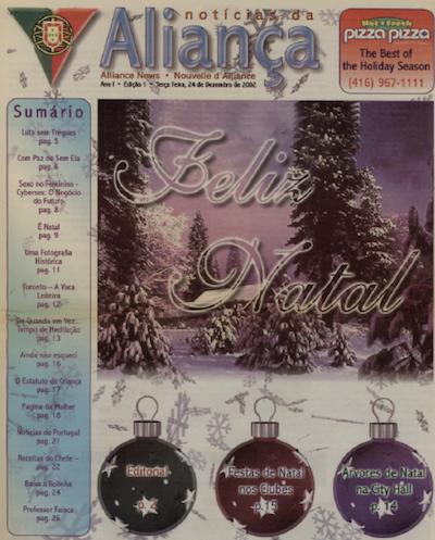NOTICIAS DA ALIANCA: 2002/12/24 Issue 1
