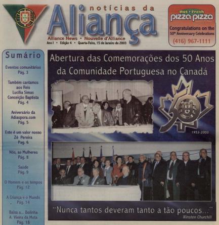 NOTICIAS DA ALIANCA: 2003/01/15 Issue 4