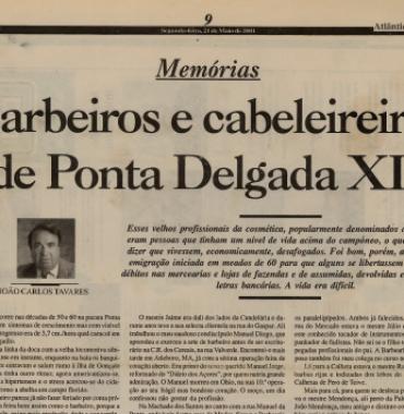 ATLANTICO EXPRESSO: Barbeiros e Cabeleireiros de Ponta Delgada XII 2001/03/21