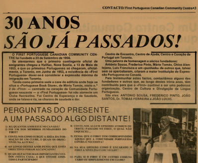 FPCCC: Contacto—30 Anos São Já Passados