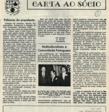 Carta ao Socio to Antonio Sousa