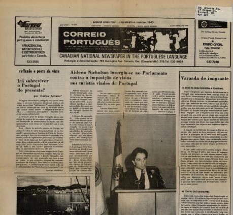 CORREIO PORTUGUES 1986/04/21