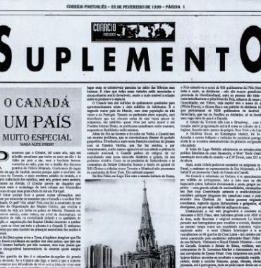 CORREIO PORTUGUES: O Canada é Um País Muito Especial 1999/02/28