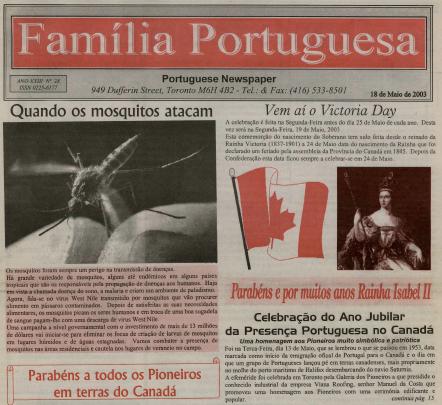FAMILIA PORTUGUESA: 2003/05/18 Issue 28