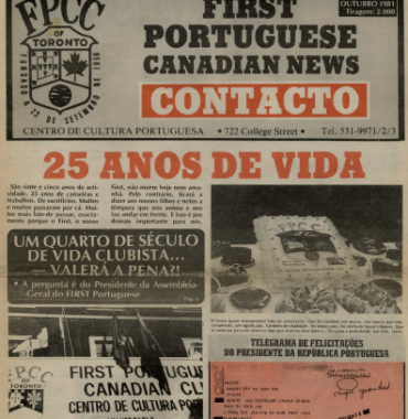 FIRST PORTUGUESE CANADIAN NEWS: Oct 1981 Issue 3