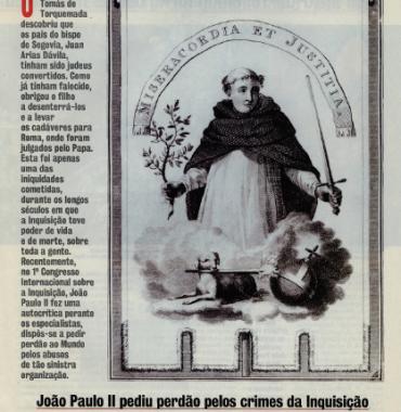 Joao Paulo II Pediu Perdao Pelos Crimes da Inquisicao