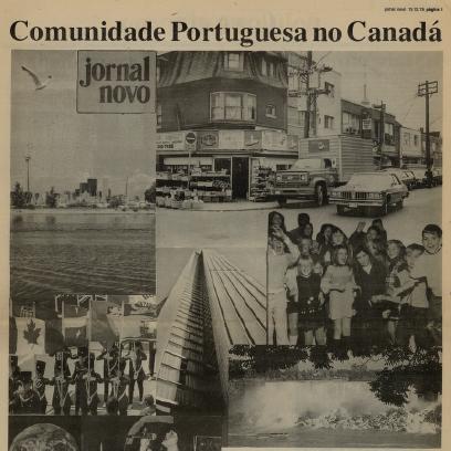 JORNAL NOVO: Comunidade Portuguesa no Canada 1978/12/15