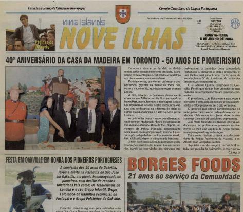 NOVE ILHAS: 2003/06/05 Issue 413