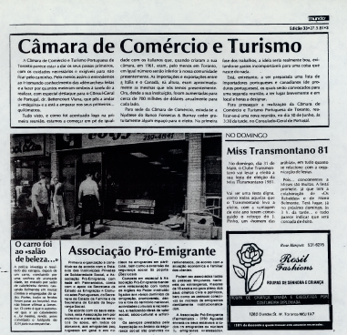 NOVO MUNDO: Camara de Comercio 1981/05/27