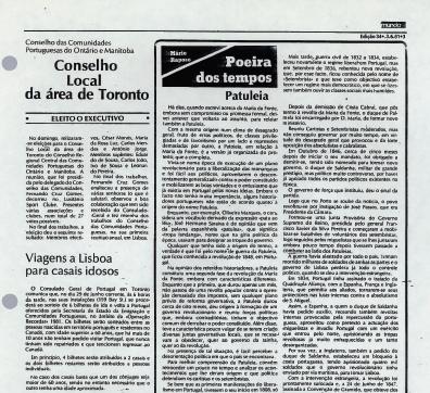 O MUNDO: Conselho Local da area de Toronto 1981/06/03
