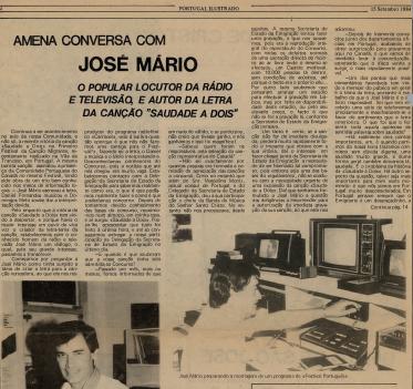 Portugal Ilustrado: Conversa com Jose Mario 1984/09/15