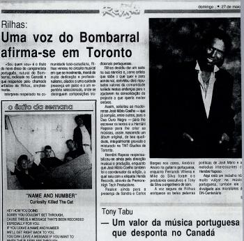 REVISTA: Rilhas Uma voz do Bombarral afirma-se em Toronto 05/27