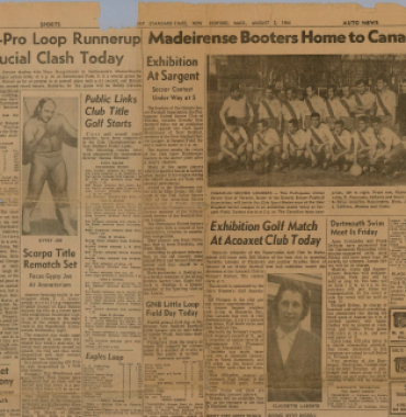 STANDARD TIMES: Madeirenses Booters Home to Canadians 1964/08/02