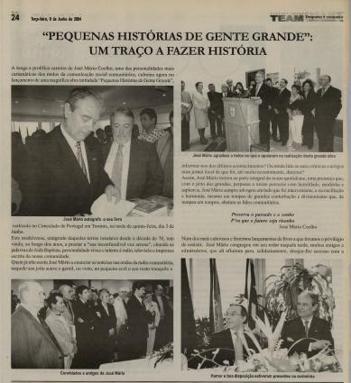 TEAM: Pequenas Historias de Gente Grande Um Traco a Fazer Historia 2004/06/08