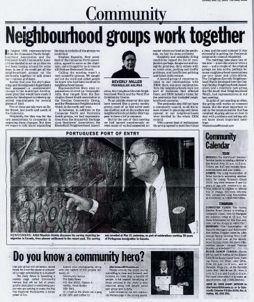 Neighbourhood Groups Work Together 2003/05/11