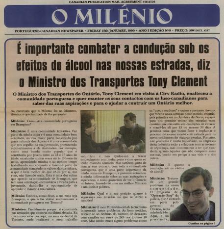 O MILENIO: 1999/01/15 Issue 9