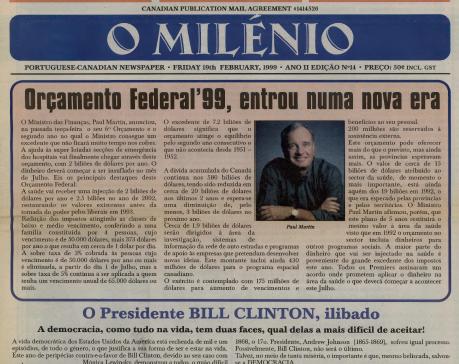O MILENIO: 1999/02/19 Issue 14