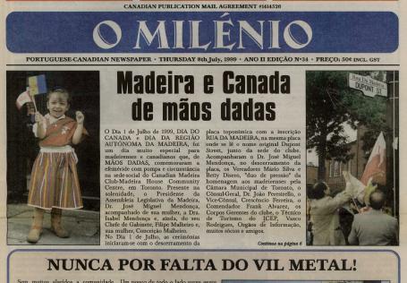 O MILENIO: 1999/07/08 Issue 34