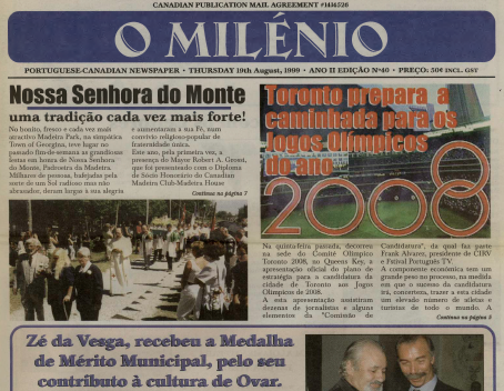 O MILENIO: 1999/08/19 Issue 40