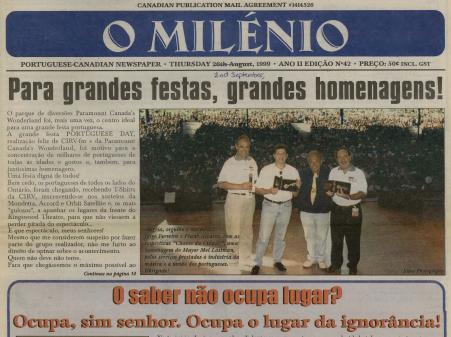 O MILENIO: 1999/09/02 Issue 42