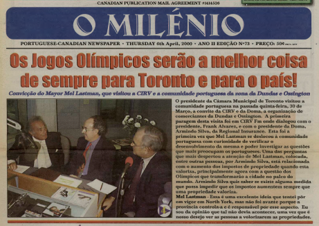 O MILENIO: 2000/04/06 Issue 73
