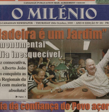 O MILENIO: 2000/10/19 Issue 101