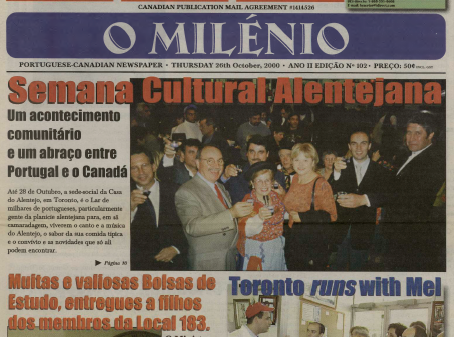 O MILENIO: 2000/10/26 Issue 102