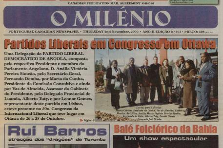 O MILENIO: 2000/11/02 Issue 103