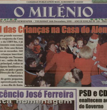 O MILENIO: 2000/12/14 Issue 109