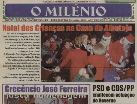 O MILENIO: 2000/12/14 Issue 109
