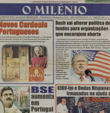 O MILENIO: 2001/01/25 Issue 115