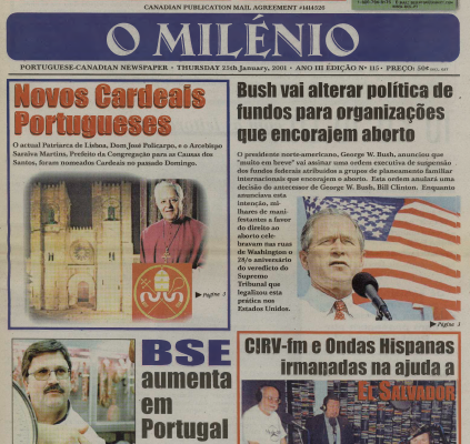 O MILENIO: 2001/01/25 Issue 115