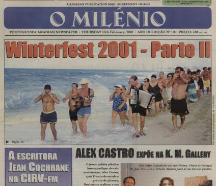 O MILENIO: 2001/02/15 Issue 118