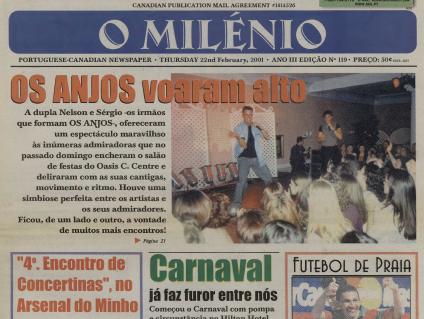 O MILENIO: 2001/02/22 Issue 119
