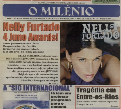 O MILENIO: 2001/03/08 Issue 121