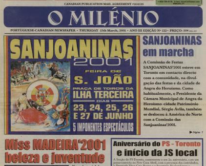 O MILENIO: 2001/03/15 Issue 122