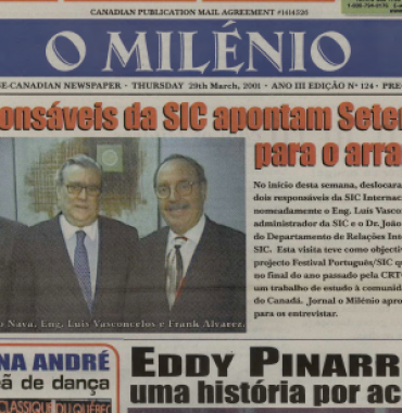 O MILENIO: 2001/03/29 Issue 124