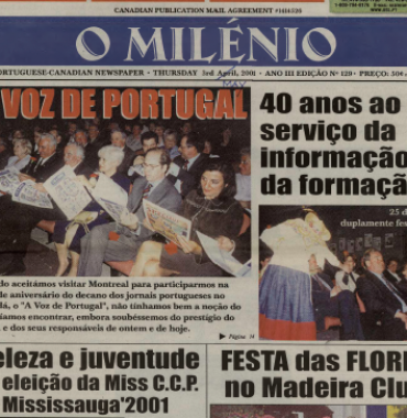 O MILENIO: 2001/05/03 Issue 129