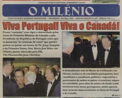 O MILENIO: 2001/05/31 Issue 133