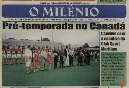 O MILENIO: 2001/07/26 Issue 141