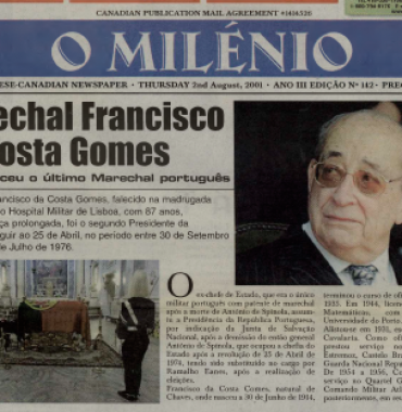 O MILENIO: 2001/08/02 Issue 142