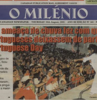 O MILENIO: 2001/08/30 Issue 146