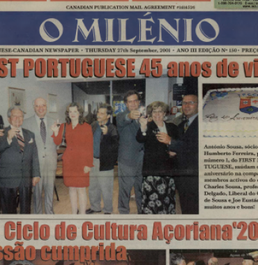 O MILENIO: 2001/09/27 Issue 150